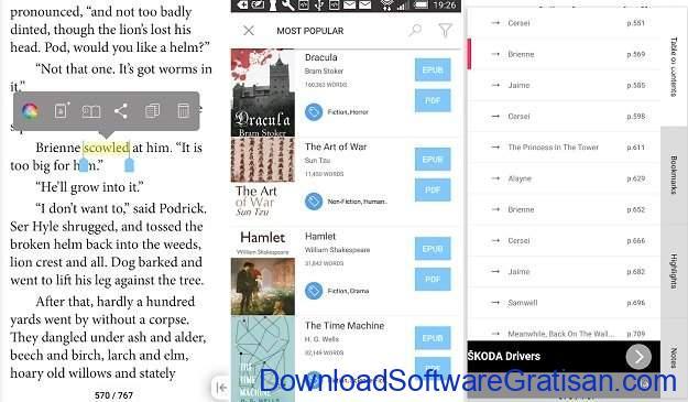 Aplikasi eBook Reader Android Bookari Free Ebook Reader