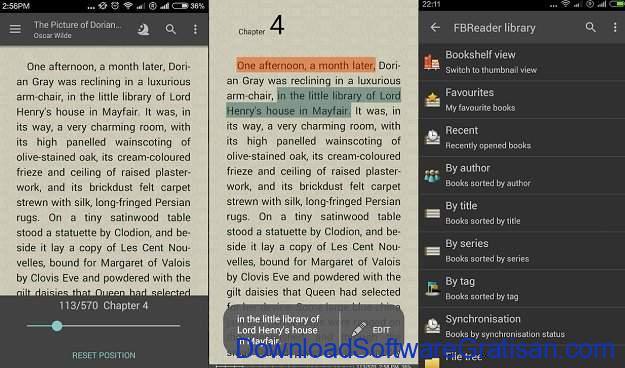 Aplikasi eBook Reader Android FBReader