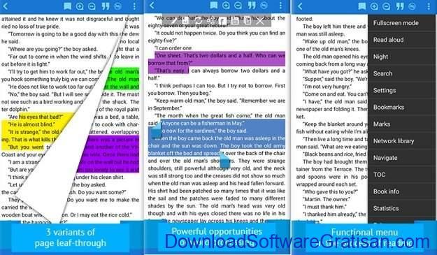 Aplikasi eBook Reader Android FReader