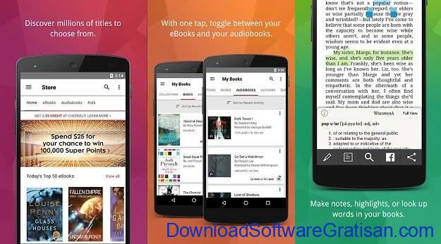 Aplikasi eBook Reader Android Kobo Books