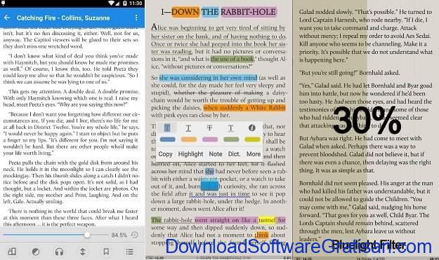 Aplikasi eBook Reader Android Moon+ Reader