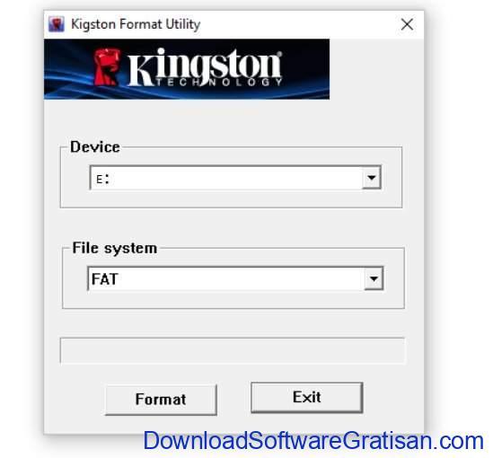 Aplikasi format flashdisk Kingston USB Format Tool
