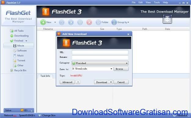 Aplikasi gratis untuk mendownload selain IDM FlashGet