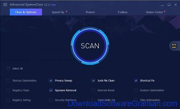 Aplikasi mempercepat kinerja laptop Komputer IObit Advanced SystemCare