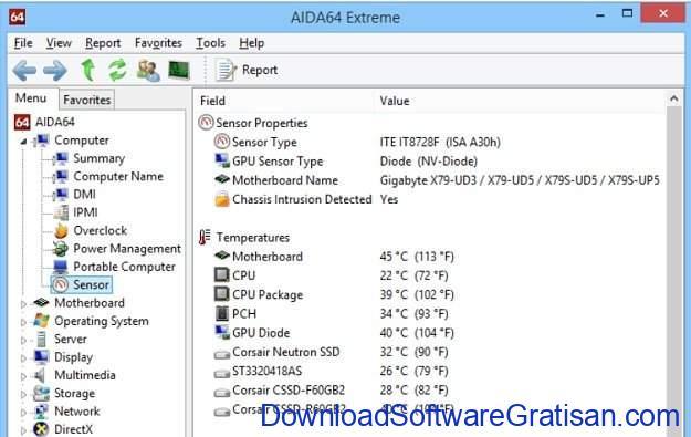 Aplikasi pemantau suhu CPU PC gratis terbaik AIDA64 Extreme