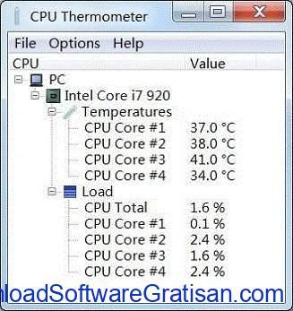 Aplikasi pemantau suhu CPU PC gratis terbaik CPU Thermometer