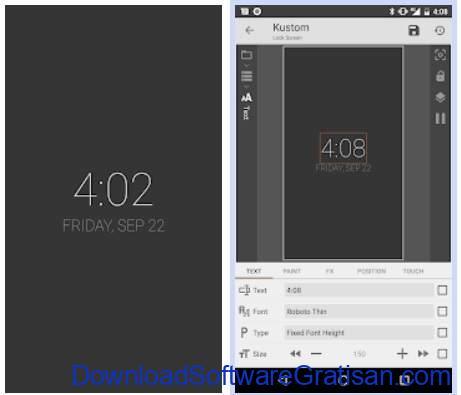 Aplikasi pengunci layar Android - KLCK Kustom Lock Screen Maker