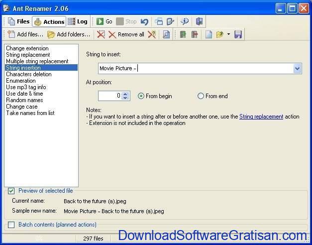 Aplikasi rename file terbaik untuk PC Ant Renamer