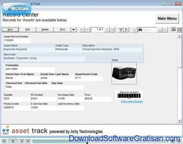 Aplikasi stok & penjualanbarang Asset Track