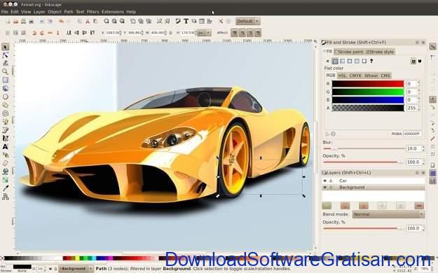 Aplikasi untuk Desain Gambar Gratis Terbaik Inkscape