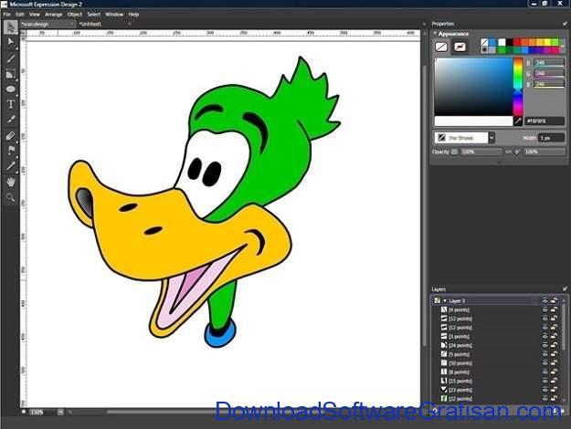 Aplikasi untuk Desain Gambar Gratis Terbaik Microsoft Expression Design 4