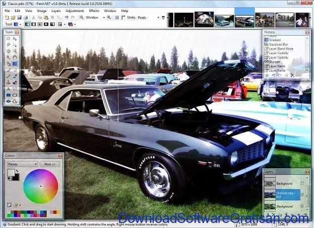 Aplikasi untuk Desain Gambar Gratis Terbaik Paintnet