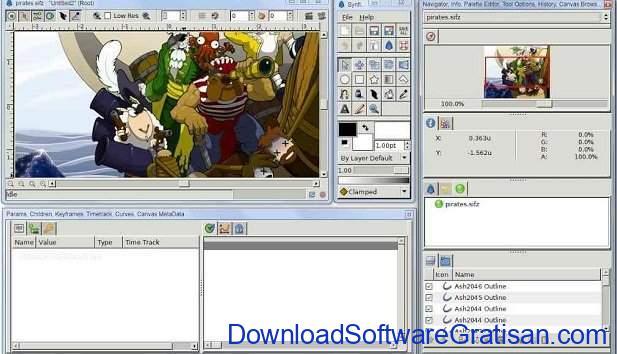 Aplikasi untuk Membuat Animasi 2D Synfig Studio