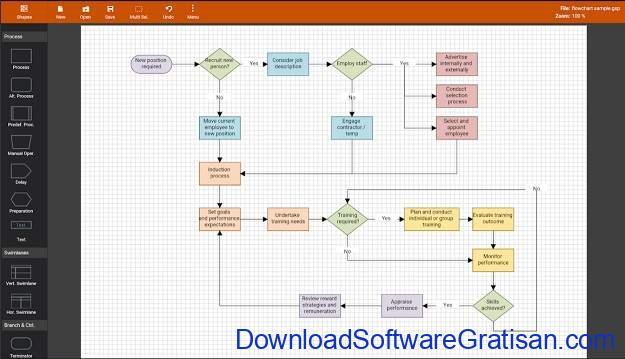 Aplikasi untuk Membuat Diagram di Android Flowdia Diagrams Lite