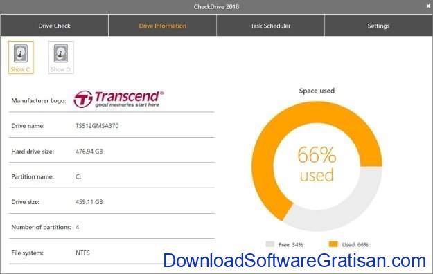 Aplikasi untuk Memeriksa dan Memperbaiki Bad Sector Hard Disk CheckDrive