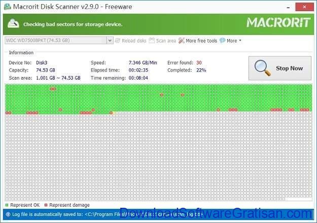 Aplikasi untuk Memeriksa dan Memperbaiki Bad Sector Hard Disk Macrorit Disk Scanner