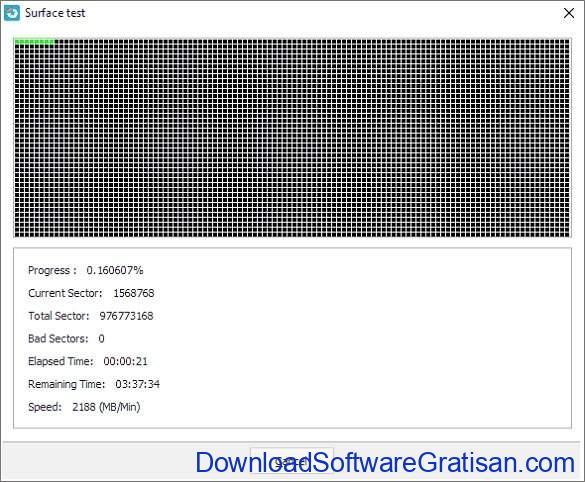 Aplikasi untuk Memeriksa dan Memperbaiki Bad Sector Hard Disk Surface test