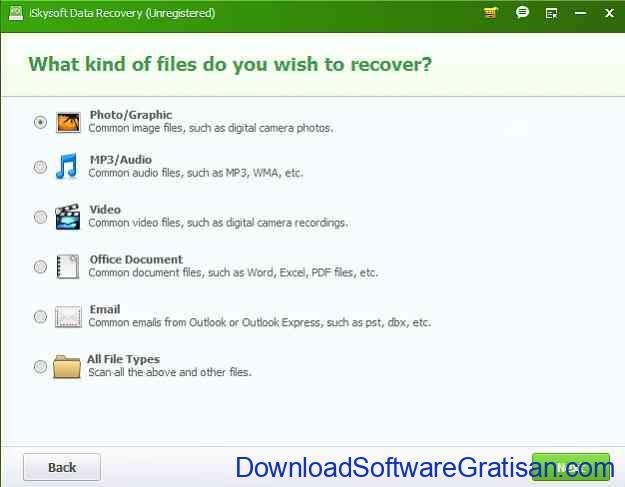 Aplikasi untuk Mengembalikan File yang Terhapus iSkysoft Data Recovery- mengembalikan banyak jenis file