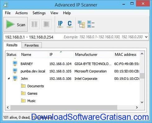 Aplikasi untuk Mengetahui Orang yang Memakai WiFi Kita Advanced IP Scanner