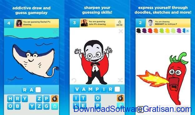 Aplikasi untuk Menggambar di Android Draw Something
