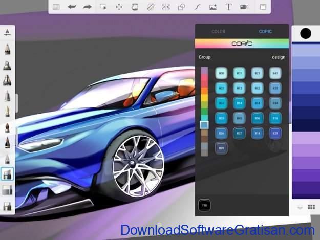 Aplikasi untuk Menggambar di Sketchbook by Autodesk