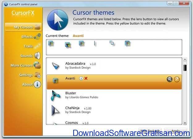 Aplikasi untuk Mengganti Cursor Mouse Windows CursorFX