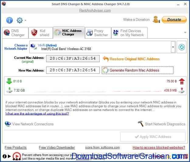 Aplikasi untuk Mengganti MAC Address Terbaik - Smart MAC Address Changer