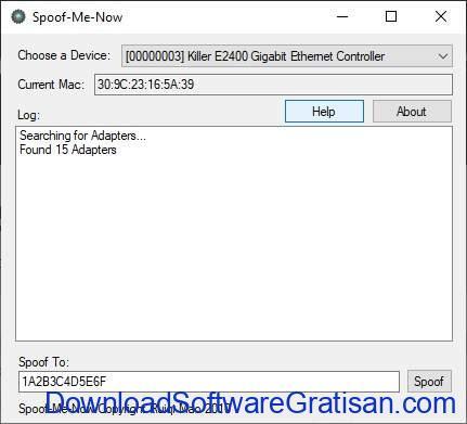 Aplikasi untuk Mengganti MAC Address Terbaik - Spoof-Me-Now
