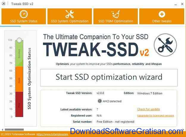 Aplikasi untuk Optimasi & Tweak SSD Drive Tweak-SSD