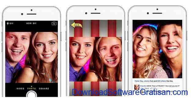 Aplikasi video tukar wajah Face Juggler Fre