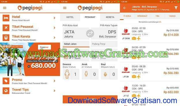 Aplikasi Gratis Android yang Berguna dan Bermanfaat Aplikasi booking hotel pesawat kereta