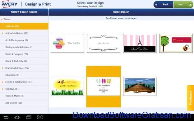 Aplikasi Gratis untuk Cetak Label pada PC Avery Design & Print