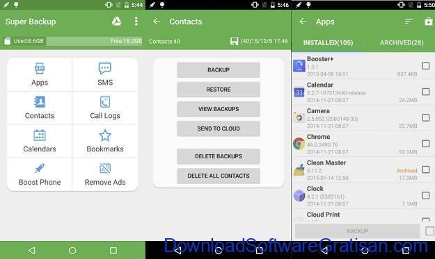 Backup Apps Android Gratis Terbaik - Super Backup & Restore