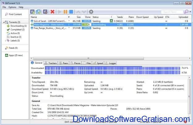 Aplikasi Peer-to-Peer (P2P) Gratis Terbaik untuk Sharing File BitTorrent