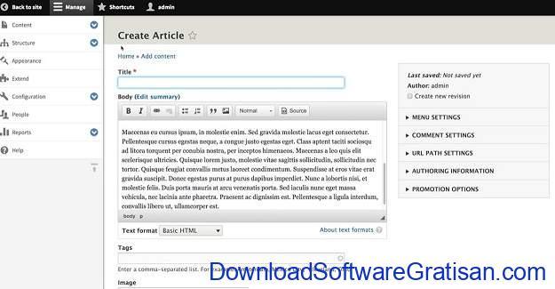 CMS Gratis Terbaik Alternatif WordPress Drupal