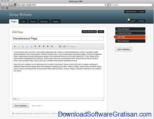 CMS Gratis Terbaik Alternatif WordPress GetSimple