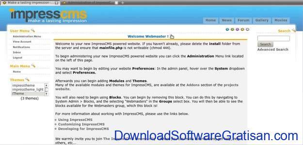 CMS Gratis Terbaik Alternatif WordPress Impresscms