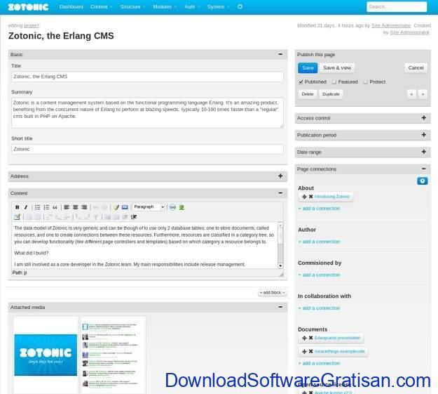 CMS Gratis Terbaik Alternatif WordPress Zotonic