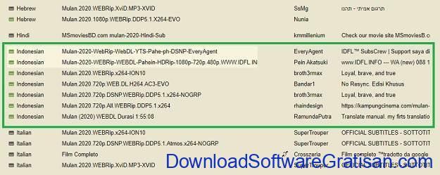 Cara Download Subtitle Indonesia dari Subscene - SS4