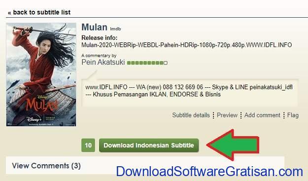 Cara Download Subtitle Indonesia dari Subscene - SS6