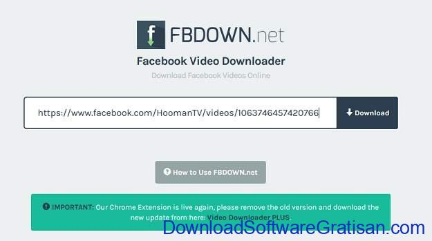 Cara Download Video di FB - SS 3