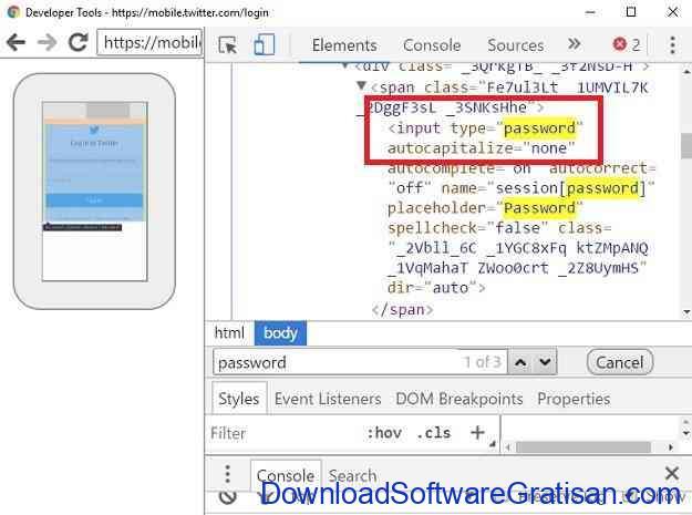 Cara Melihat Password Bintang di Hp Android Tanpa Root - Developer Tool Find Elements