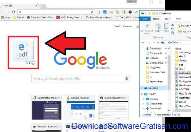 Cara Memisahkan PDF Menggunakan Google Chrome Langkah 1