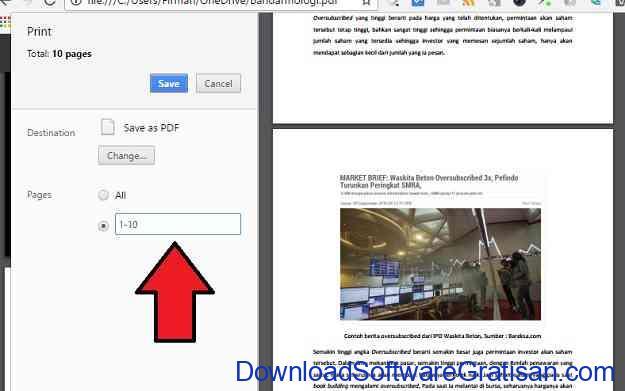 Cara Memisahkan PDF Menggunakan Google Chrome Langkah 5