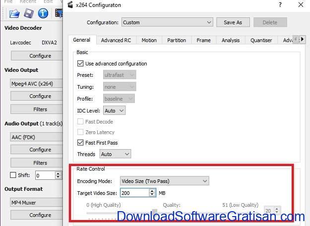Cara Mengkompres File Besar - Avidemux 3