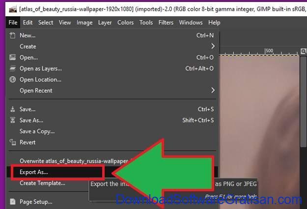 Cara Mengkompres File Besar - GIMP 1