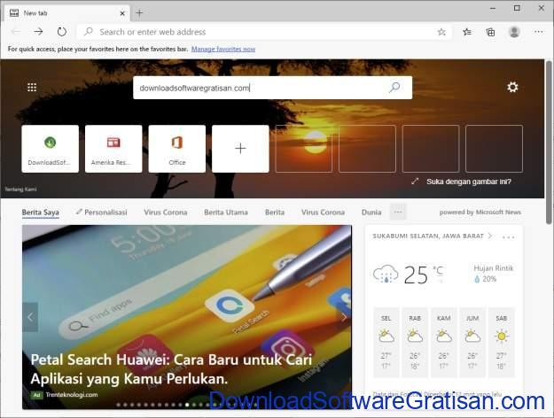 Daftar Browser web terbaik - Edge