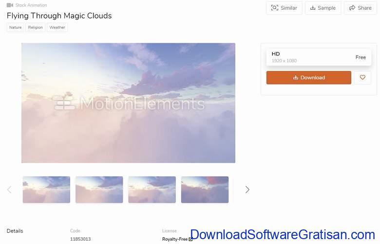 Daftar Situs Download Template Opening (Intro) Video Keren Gratis untuk Youtube Motion Elements