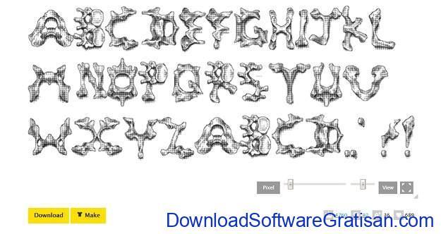 Desain Tulisan Online Gratis Terbaik - Fontstruct