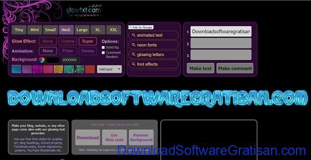 Desain Tulisan Online Gratis Terbaik Glowtxt